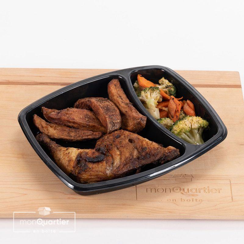 Cuisses de poulet Charmoula et patates rôties