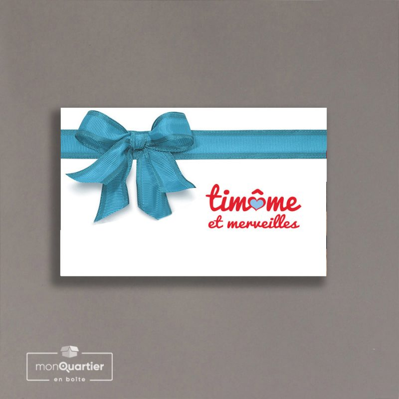 Certificat cadeau Timôme