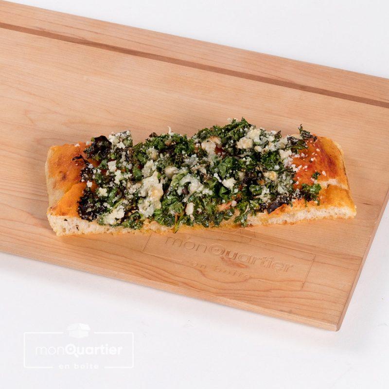 Focaccia kale parmigiano pesto
