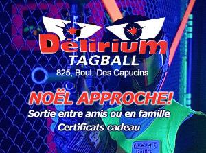 Certificats Cadeaux | Delirium Tagball