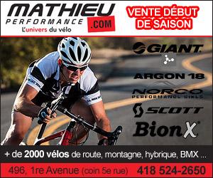 Vente début de saison de vélo   Mathieu Performance