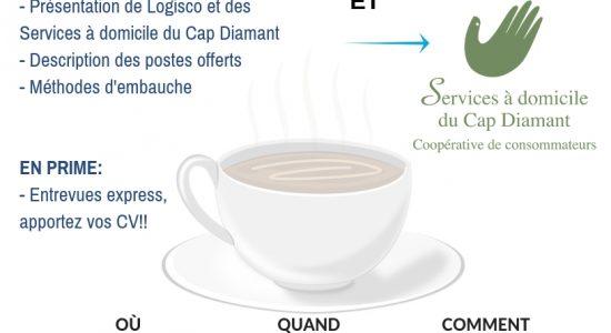 Café-emploi – Logisco et Services à domicile du Cap Diamant