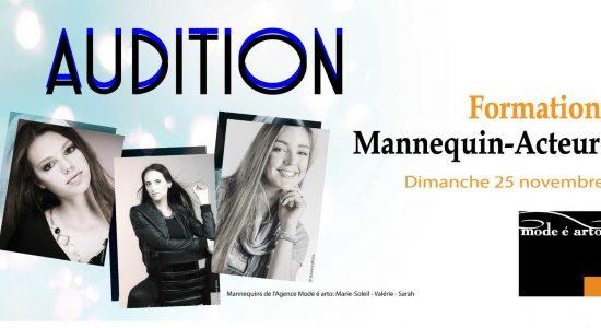 Audition Mannequin-Acteur