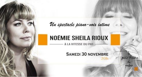 Noémie Sheila Rioux, À la vitesse du pas