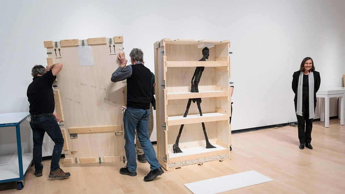 Les oeuvres de Giacometti sont arrivées au MNBAQ | 31 janvier 2018 | Article par Céline Fabriès