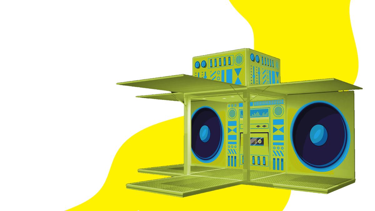 Des DJ se produiront dans la structure mobile du Stéréo FEQ, à l'entrée des grands concerts.
