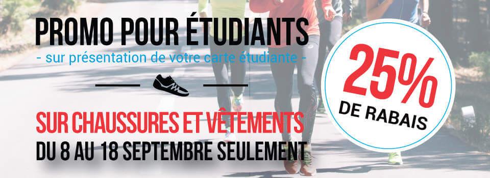 Promo pour étudiants | Coureur Nordique (Le)