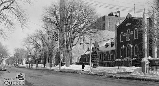 Montcalm dans les années 1950 : monastère des pères dominicains, sur Grande Allée - Jean Cazes