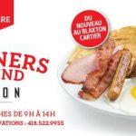 Déjeuners-brunchs les samedis et dimanches - Blaxton Cartier - Restaurant Pub et Grill