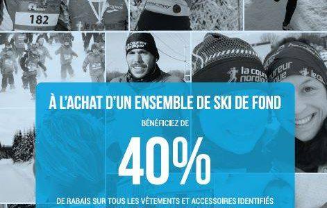 40% de rabais à l'achat d'un ensemble de ski de fond | Coureur Nordique (Le)