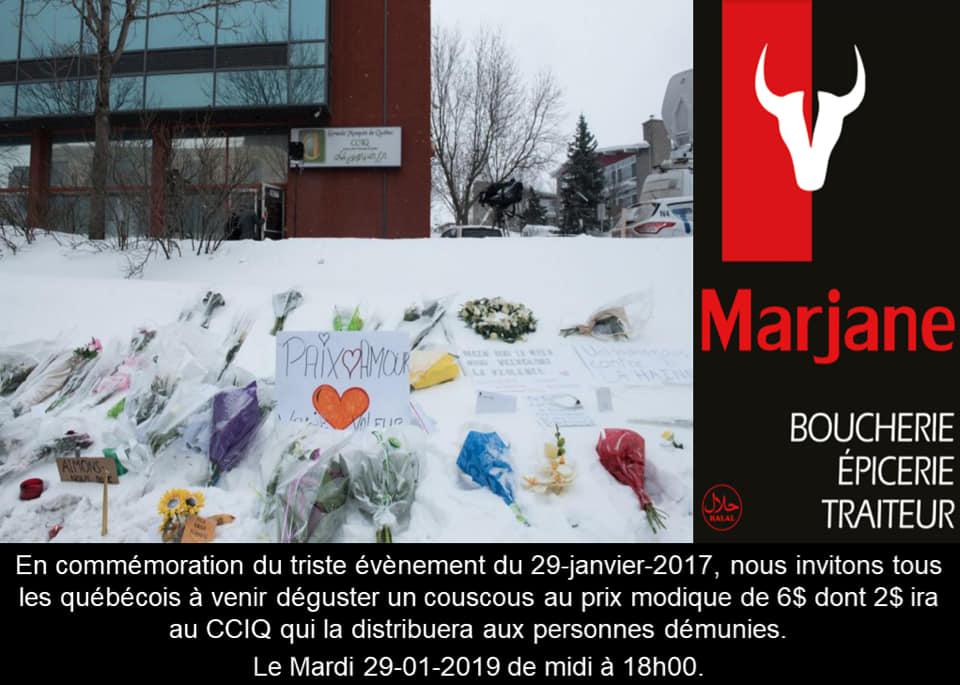 Spécial couscous | Commémoration du 29 janvier 2017 | Marjane | Boucherie – Épicerie – Traiteur