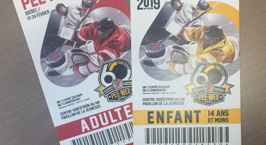 Billets gratuits   Tournoi International de Hockey Pee Wee   Desjardins – Caisse du Plateau Montcalm