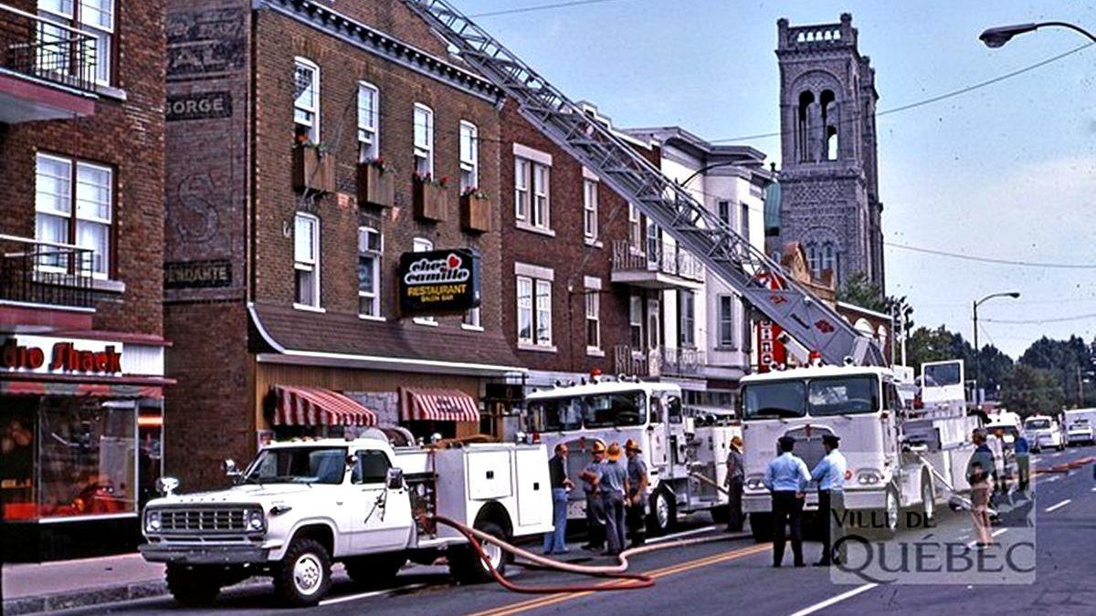 Saint-Sacrement dans les années 1970 : incendie au restaurant Chez Camille | 21 avril 2019 | Article par Jean Cazes