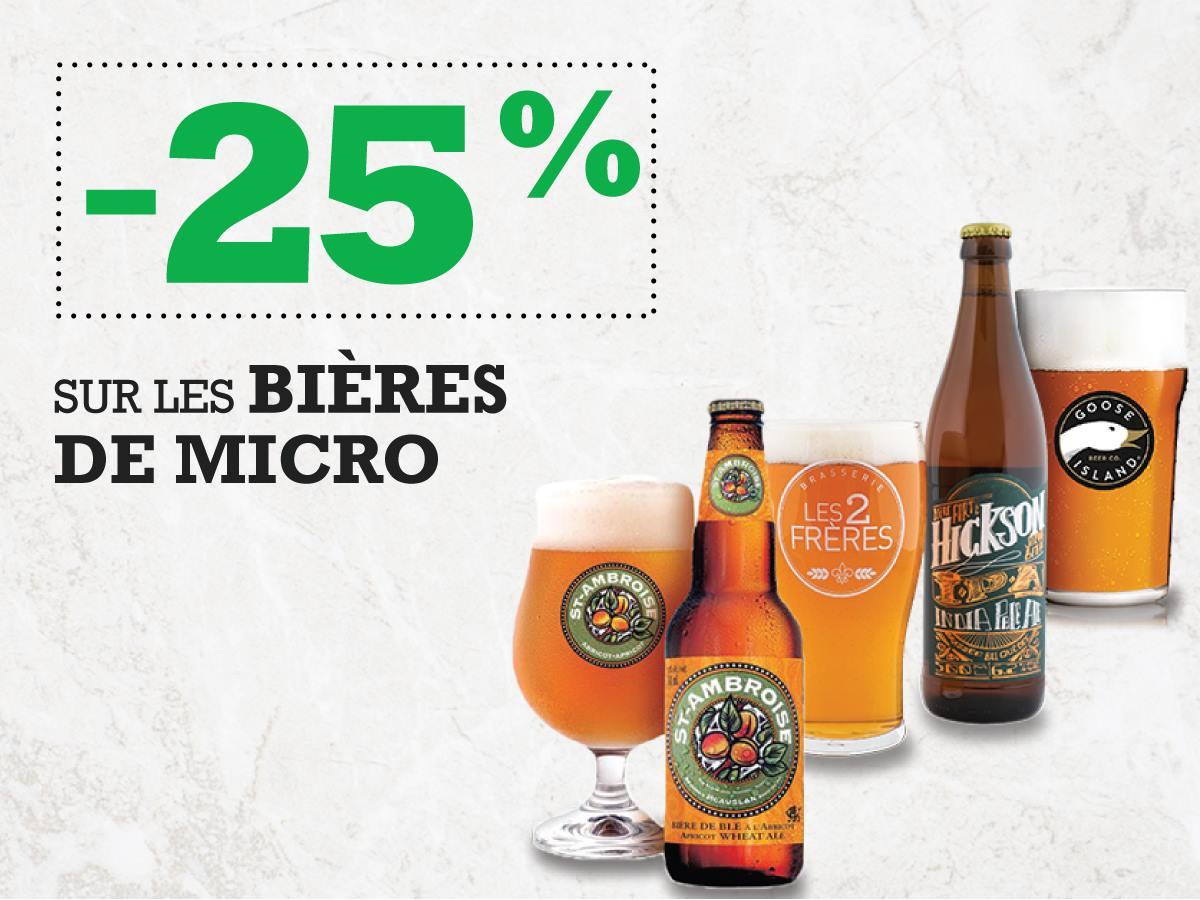 -25% sur les bières de microbrasseries | Blaxton Cartier – Restaurant Pub et Grill