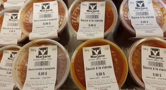 Nouveauté : Sauce a spaghetti maison | Marjane | Boucherie – Épicerie – Traiteur