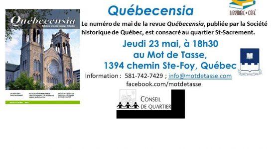 Lancement de la revue Québecensia