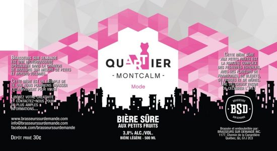 Bière du quartier Montcalm | Été 2019 | SDC Montcalm – Quartier des arts de Québec