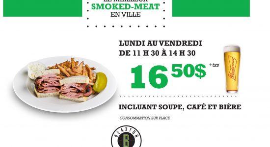 Le meilleur smoked meat en ville | Blaxton Cartier – Restaurant Pub et Grill