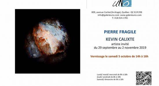 Vernissage de l'exposition Pierre fragile | Artiste invité : Kevin Calixte