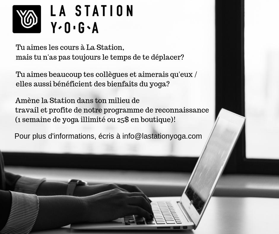 Programme de reconnaissance   Station Yoga  (La)
