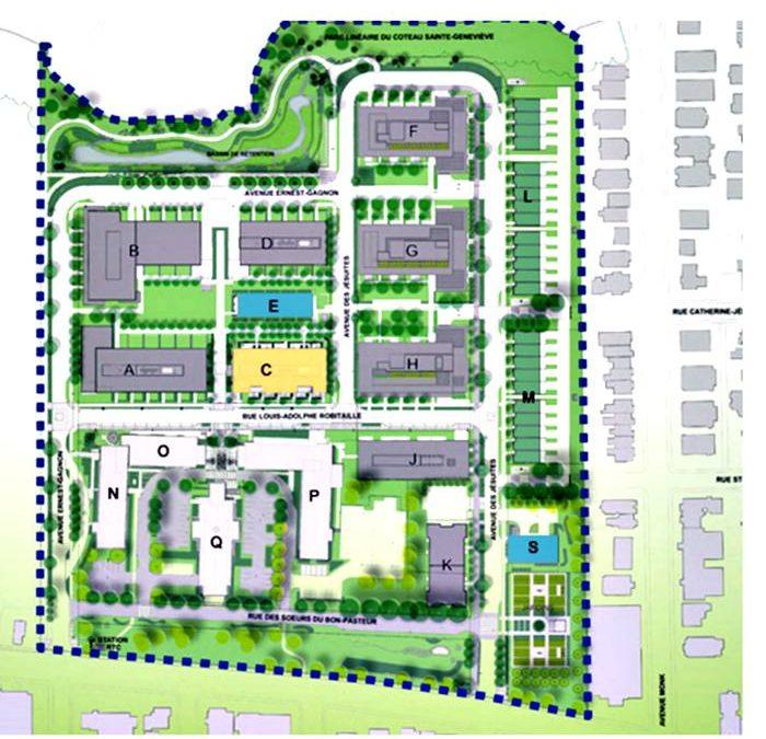 Plan de la Cité Verte
