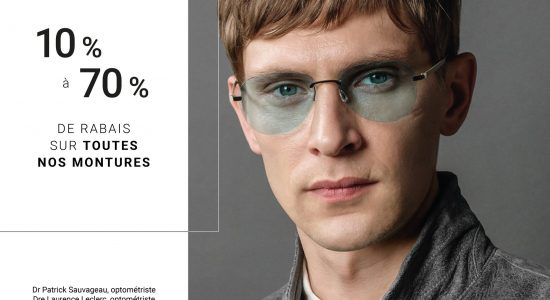 10% à 70% sur toutes les pièces d'exception en boutique | Lunetterie Optiboutiq