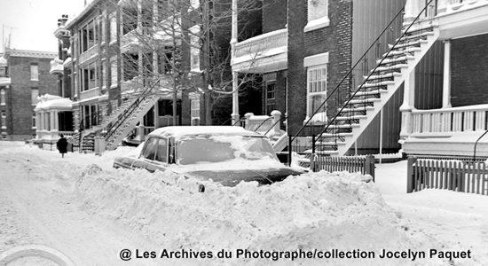 Montcalm dans les années 1960 : amoncellement de neige sur Saint-Cyrille - Jean Cazes