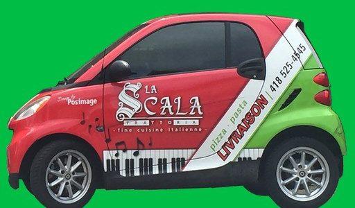 Menus disponibles en livraison ou pour emporter   La Scala