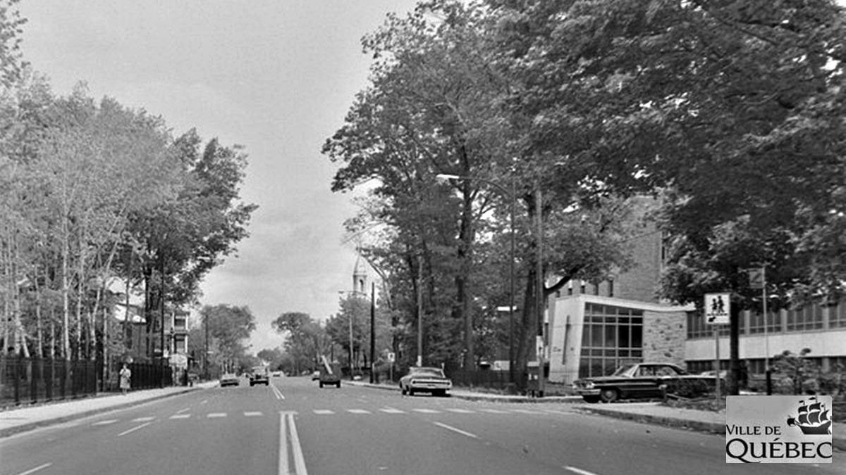 Montcalm dans les années 1960 : intersection chemin Sainte-Foy – avenue Brown | 23 août 2020 | Article par Jean Cazes