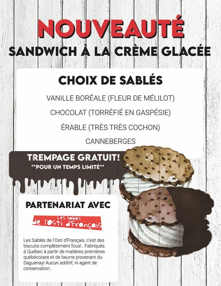 Sandwich à la crème glacée   Glacier Aberdeen