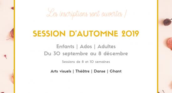 Session d'automne 2019   Inscriptions