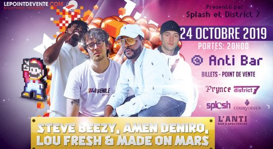 Steve Beezy avec Lou Fresh, Amen Deniro & Made On Mars