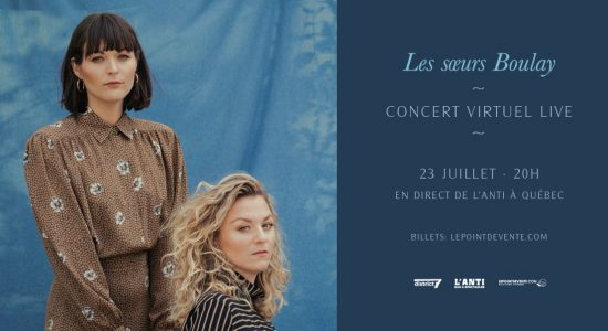 Les soeurs Boulay en concert virtuel live