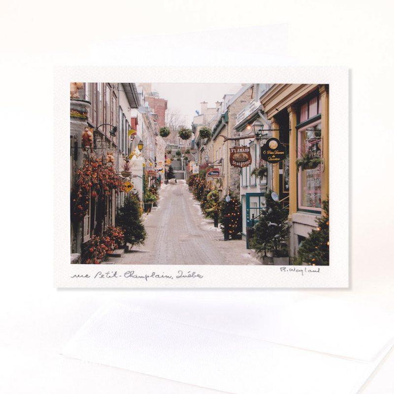 Carte de souhaits Petit-Champlain