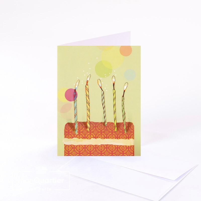 Carte de souhaits «bougies»