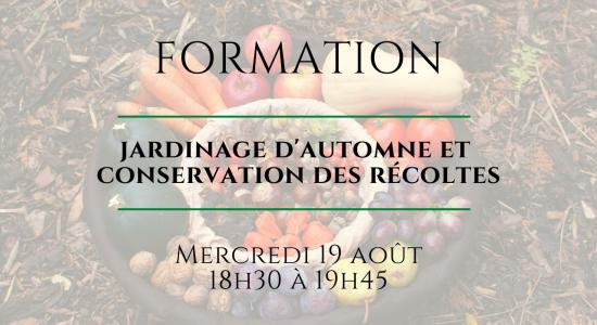 Formation en ligne: Jardinage d'autome + Conservation des récoltes