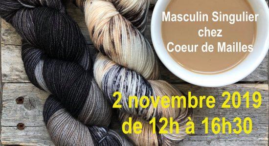 Visite de Masculin Singulier et de sa laine chez Cœur de Mailles