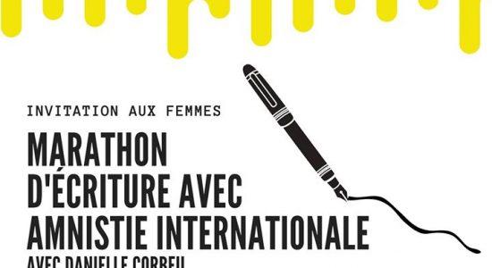 Marathon d'écriture d'Aministie Internationale