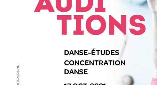 AUDITIONS - Danse-Études et Concentration danse