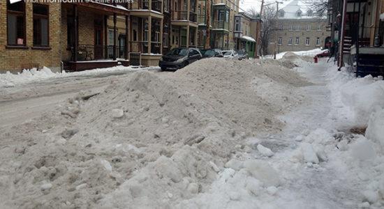 Une mauvaise gestion des stationnements Tempête de neige - Monmontcalm