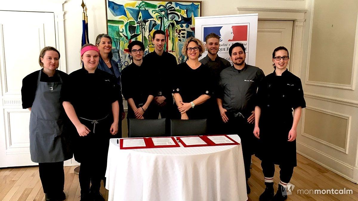 Des étudiants de Mérici dans la cuisine de la résidence de la consule de France | 22 mars 2018 | Article par Céline Fabriès