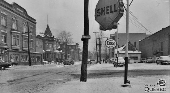 Montcalm dans les années 1950 : intersection Cartier et Saint-Cyrille - Jean Cazes