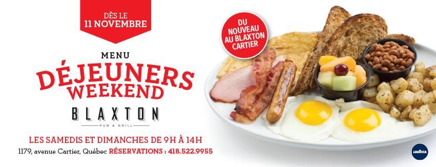 Déjeuners-brunchs les samedis et dimanches | Blaxton Cartier – Restaurant Pub et Grill