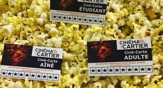 Cartes de 10 films   Cinéma Cartier