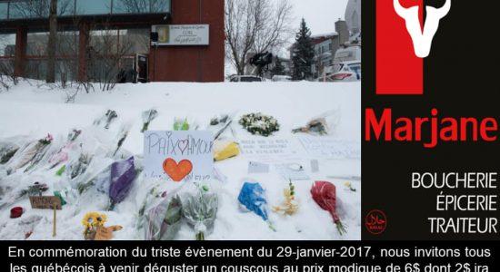 Spécial couscous   Commémoration du 29 janvier 2017   Marjane   Boucherie – Épicerie – Traiteur
