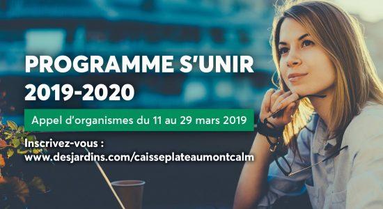Programme S'UNIR   Desjardins – Caisse du Plateau Montcalm