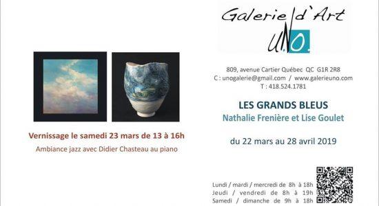 Vernissage et exposition Les Grands Bleus