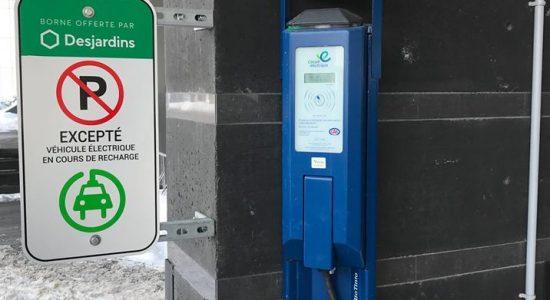 4 nouvelles bornes de recharge électriques   Desjardins – Caisse de Québec