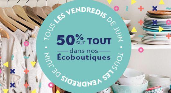 50% dans nos écoboutiques tous les vendredis de juin   YWCA Québec