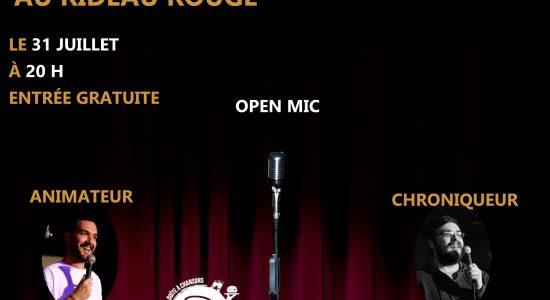 2ième open mic au Rideau Rouge!